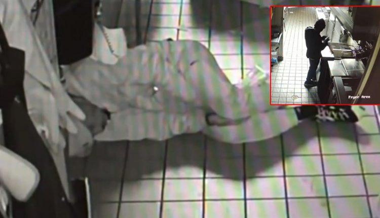 Hyri për të grabitur në fast-food, hajduti ha dhe e zë gjumi brenda (VIDEO)