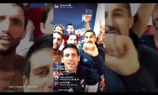 Djokovic me shokë harrojnë sportin, këndojnë këngë nacionaliste për Kosovën (VIDEO)