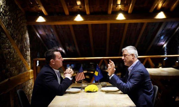 Thaçi: Me Grenellin biseduam për rinisjen e dialogut mes Kosovës dhe Serbisë
