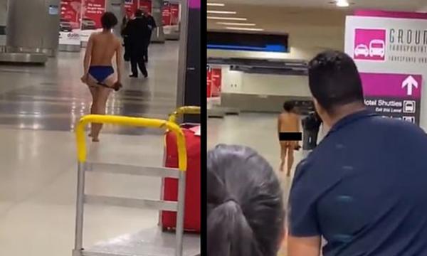 Vajza heq reçipetat dhe i tund në ajër në mes të aeroportit, pasagjerët mbeten të shtangur në Miami (VIDEO)