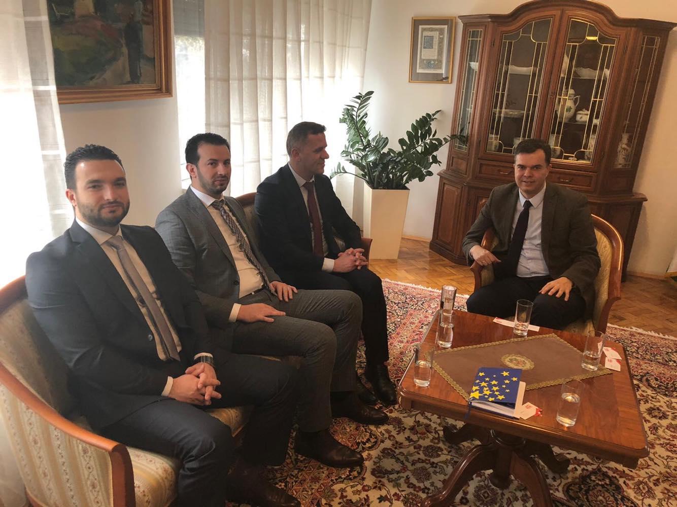 Kryetari i RDK-së Vesel Memedi takoi ambasadorin e Hungarisë z. Dr. Laszlo Duks