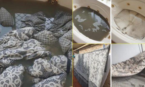 Futi në ujë mbulesat e shtratit, u trishtua nga rezultatet (FOTO)
