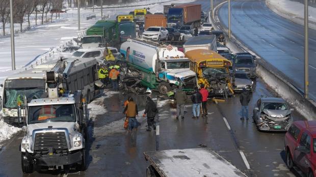 Kanada, 200 automjete përfshihen në aksident, 70 të lënduar (VIDEO)