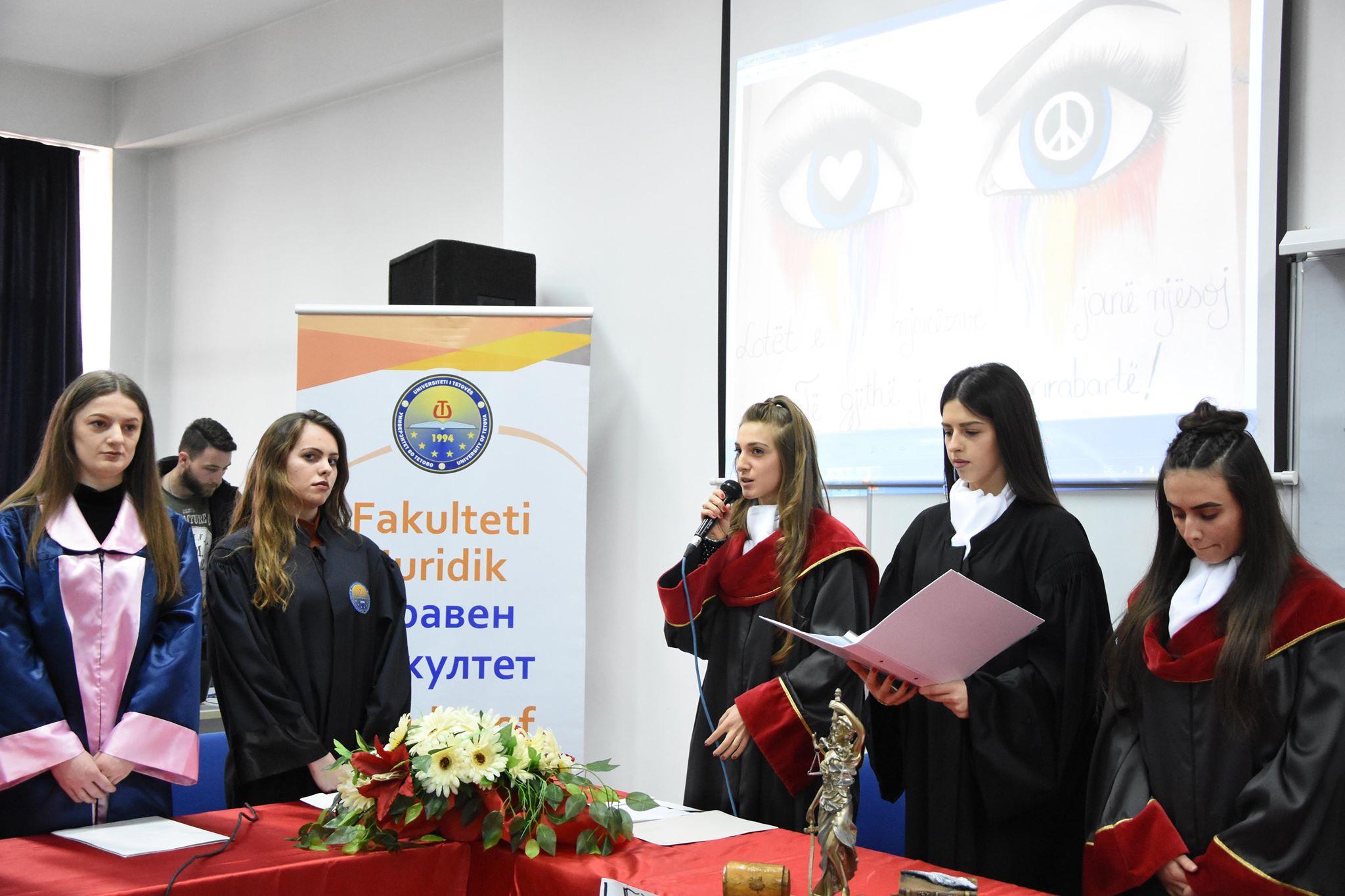 Studentët e Fakultetit Juridik të Universitetit të Tetovës organizuan seancë të improvizuar gjyqësore