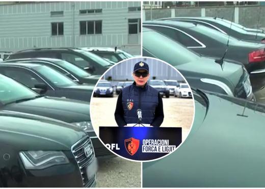 """Mercedez Benz dhe Audi, dalin pamjet e """"bishave"""" luksoze të sekuestruara nga OFL (VIDEO)"""