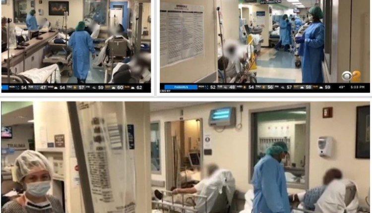 Koronavirusi: Kaos në spitalet e Nju-Jorkut, pacientët shtrihen në korridore (FOTO)