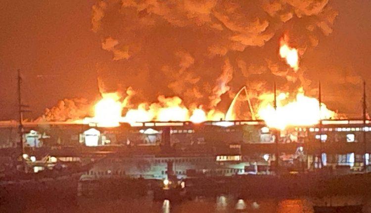 Zjarr i madh në San Francisko (VIDEO)