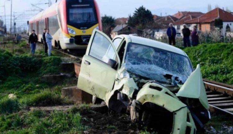 Aksident i tmerrshëm në Maqedoni, treni godet veturën me 5 udhëtarë