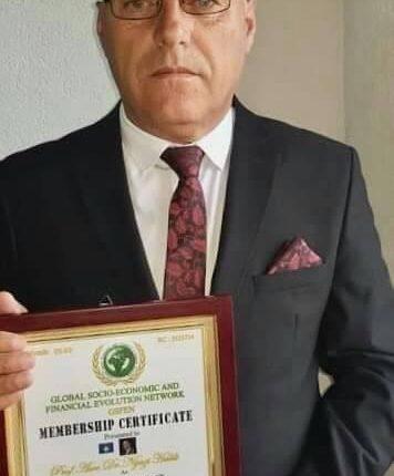 Prof. Asoc. Dr. Nijazi Halili merr titullin ambasador i Paqes Botërore