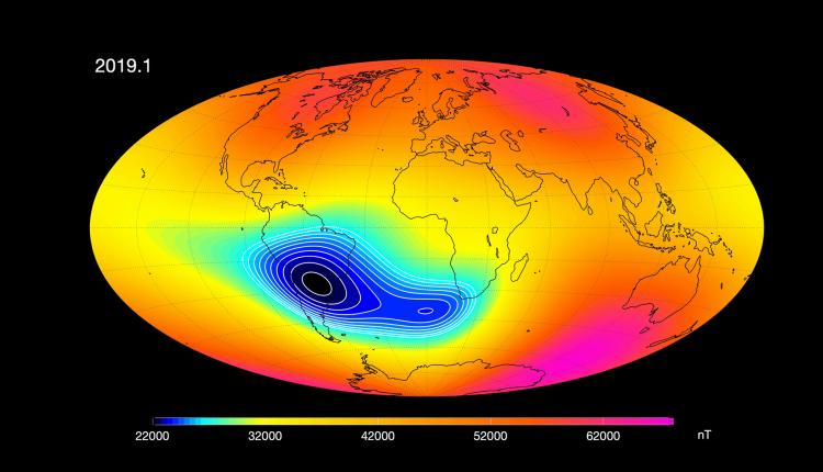 Zbulimi tronditës/ Fusha magnetike e Tokës po dobësohet