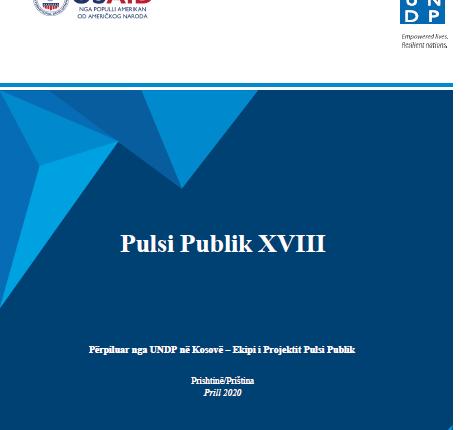 UNDP lanson, në mënyrë virtuale, Përmbledhjen Pulsi Publik 18