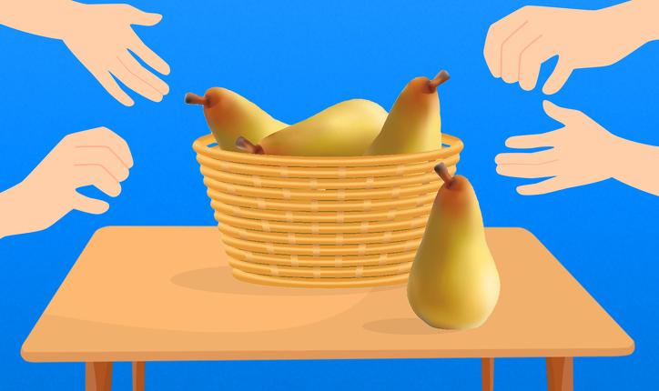 Kemi 4 dardha dhe 4 persona, secili merr nga një. Si ka mundësi që në fund mbeti një dardhë në shportë?!