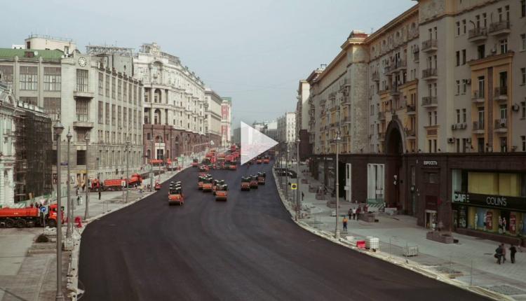 Shikoni se si asfaltohet rruga në Rusi (Video)