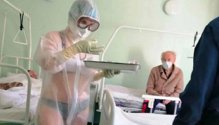 """Kuronte të sëmurët me """"bikini"""", infermierja ruse lidh kontratën si modele…(FOTO)"""