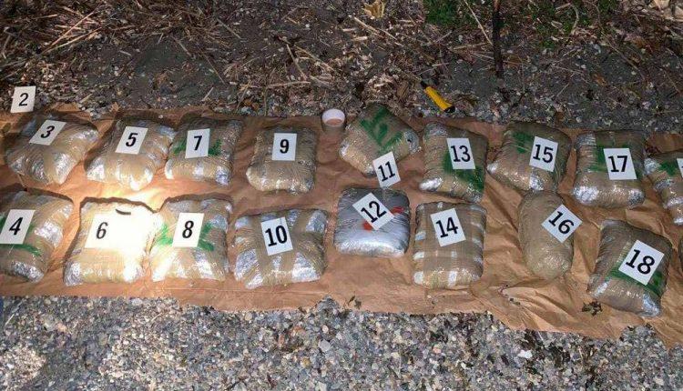 Mbi njëqind kilogramë mariuhanë u gjetën në një objekt lundrues në Liqenin e Ohrit