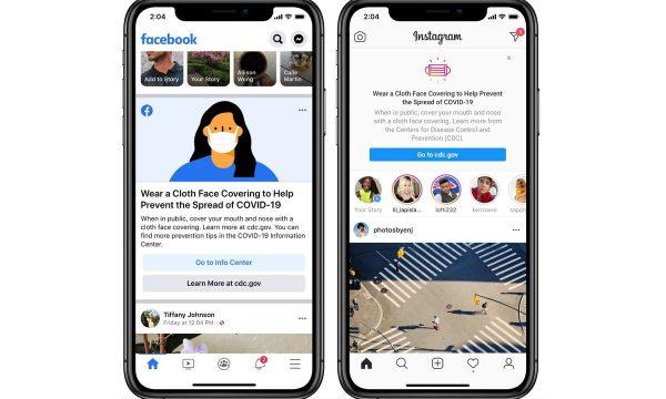 Facebook dhe Instagram ua kujtojnë përdoruesve të bartin maska