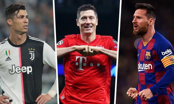 """""""Këpuca e Artë"""", prin Lewandowski, Ronaldo dhe Messi pas Immobiles"""