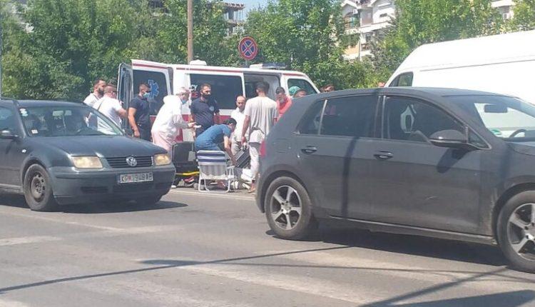Aksident trafiku në lagjen Hasanbeg të Shkupit (Foto)
