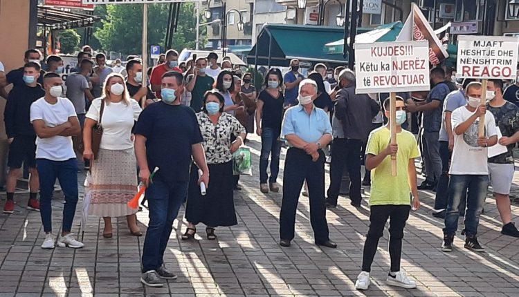 Protesta kundër shtrenjtimit të energjisë në Kërçovë