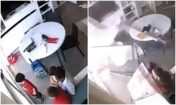 Pamje të frikshme: Shpërthimi në Bejrut i përplas xhamat në fytyrë fëmijëve të vegjël (VIDEO)