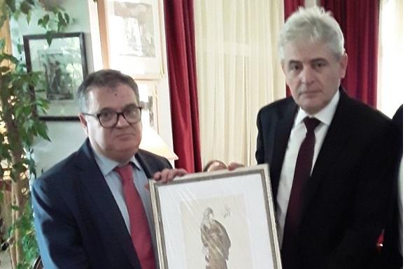 Takim lamtumirës i kryetarit të BDI-së z.Ali Ahmeti me ambasadorin e Francës z.Kristijan Timonie