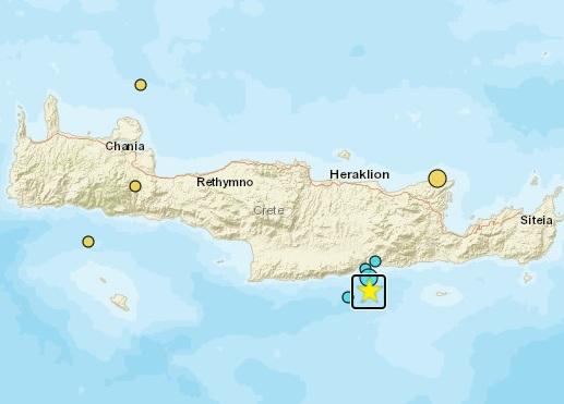 Edhe një tërmet në Kretë