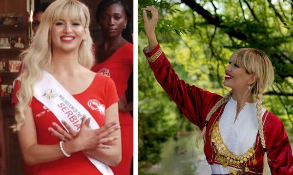 Miss Serbia bëri me duar shqiponjën, veprimi e kishte nervozuar Vuçiqin