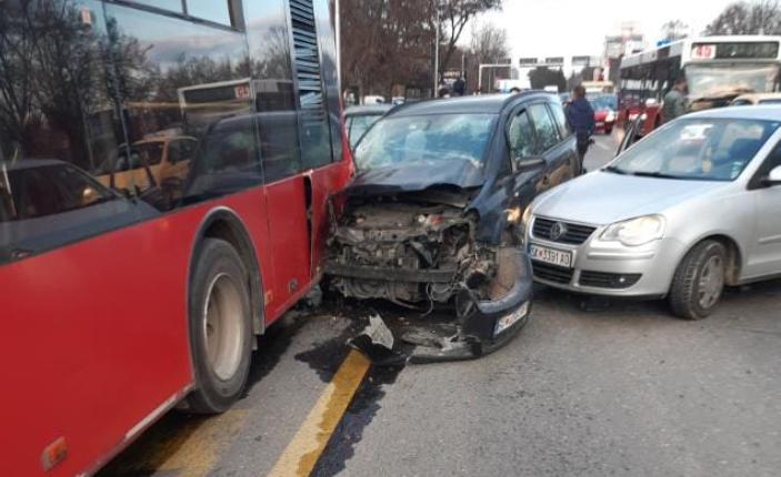 """NQP """"Shkup"""": Nuk ka të lënduar nga aksidenti afër Fakultetit të Pylltarisë"""