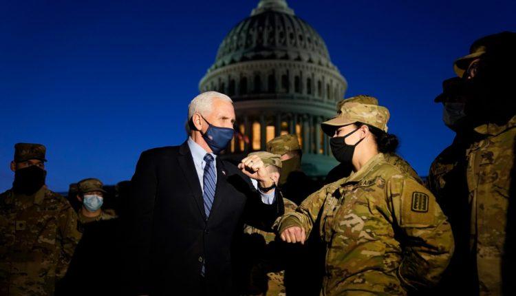Pence përgëzon rojet e Kongresit (VIDEO)