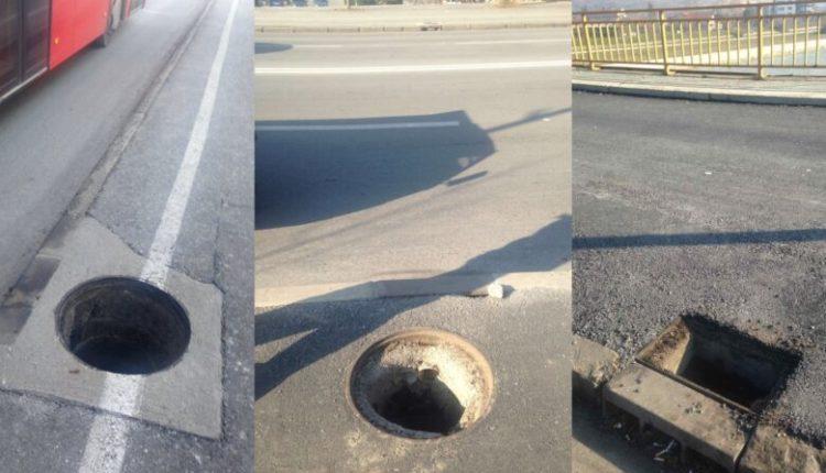 Vidhen kapakët e pusetave në disa rajone të Shkupit