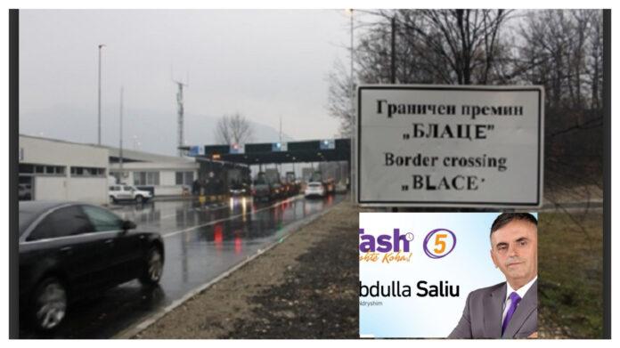 """Skandaloze: Deputeti Abdulla Saliu bën """"të fortin"""" . Për të nuk vlejn procedurat dhe rregullat e kalimit të kufirit!"""