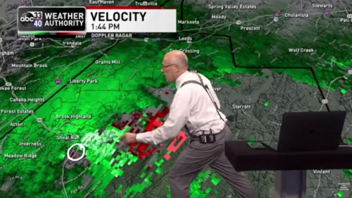 E kupton gjatë prezantimit të motit se stuhia e fuqishme po shkonte drejt shtëpisë së tij , ky ishte reagimi i prezantuesit (VIDEO)
