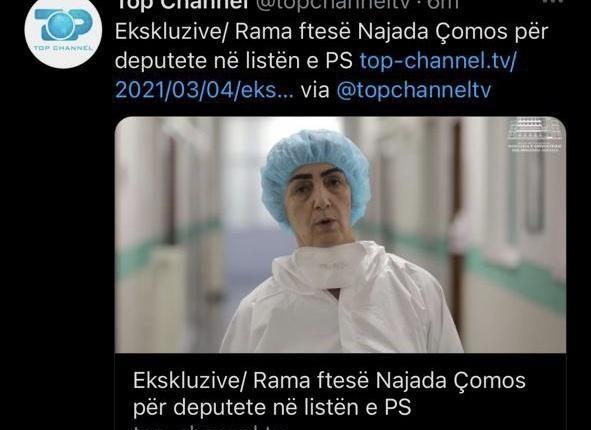 E FUNDIT/ Rama fton Najada Çomon të bëhet pjesë e listës së PS-së