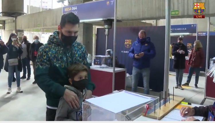 Zgjedhjet për president te Barcelona, voton edhe Leo Messi (VIDEO)