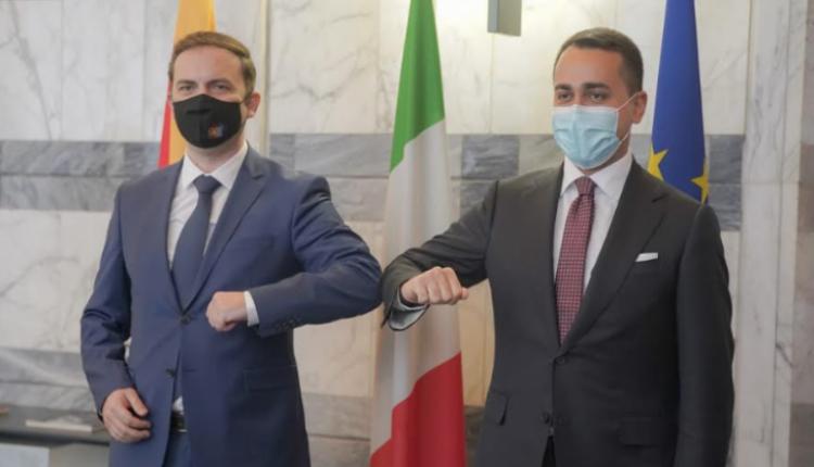 Osmani – Di Maio: Italia në vazhdimësi është në mesin e vendeve që bashkëpunojnë me RMV-në