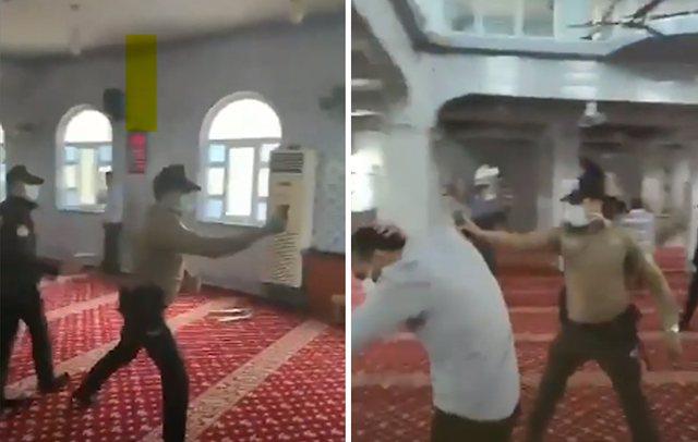 Shkelën masat anti-Covid – Policia turke nxjerr zvarrë nga xhamitë besimtarët myslimanë (VIDEO)