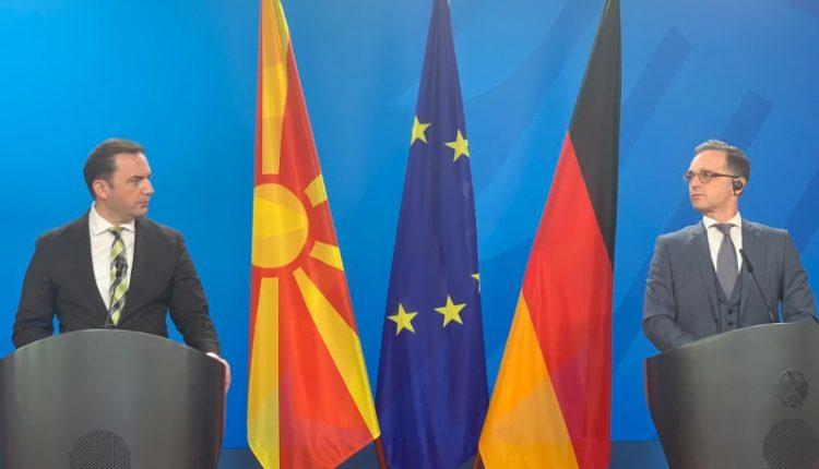 """Berlini mirëpret kryediplomatin Maqedonisë së Veriut/ """"Është kënaqësi ta kemi Bujar Osmanin në Berlin"""""""