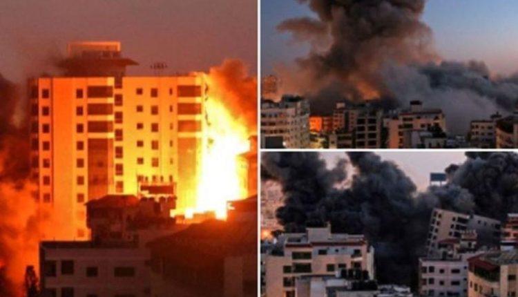 """Pamje: Izraeli rrafshon Kullën Hanadi në Gaza me """"trokitje në çati"""""""