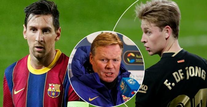 De Jong: Dua që Messi dhe Koeman të qëndrojnë te Barcelona