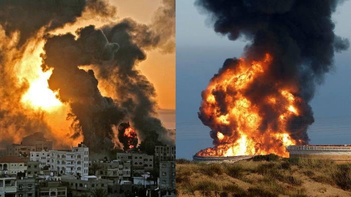 Forcat e Izraelit publikojnë pamjet: Disa raketa të Hamasit po përfundojnë në Gaza