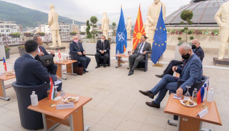 Osmani u takua me Ambasadorët e vendeve anëtare të BE-së nga formati C5- Austria, Sllovenia, Çekia, Sllovakia dhe Hungaria