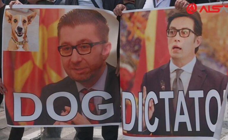 """Protestuesit thirrje Pendarovskit: President, mos i mbrojë terroristët e """"27 Prillit"""""""