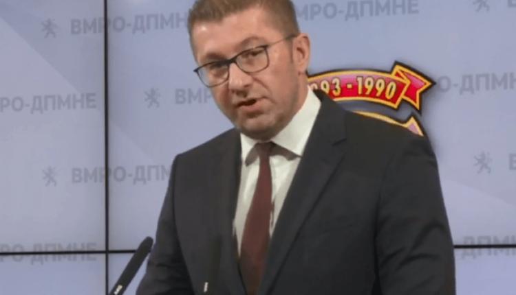VMRO-DPMNE kërkon zgjedhje të parakohshme, Mickoski: Punojmë për sigurimin e shumicës