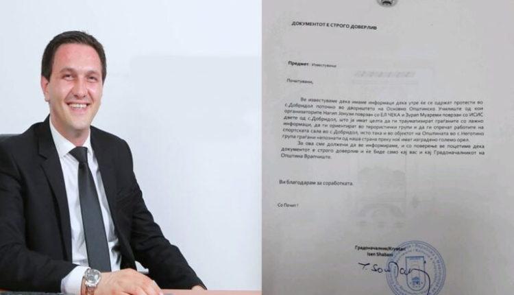 A i ka spiunuar qytetaret e vet Kryetari i Vrapçishtit Isen Shabani?! (DOKUMENT)