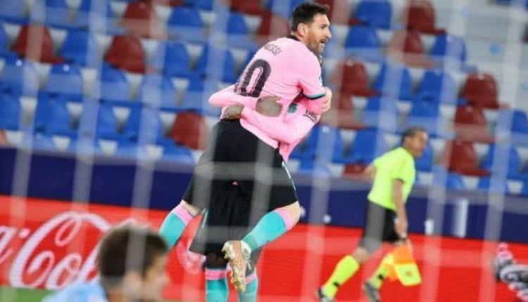 Messi shënon gol të bukur me volej përballë Levantes (VIDEO)