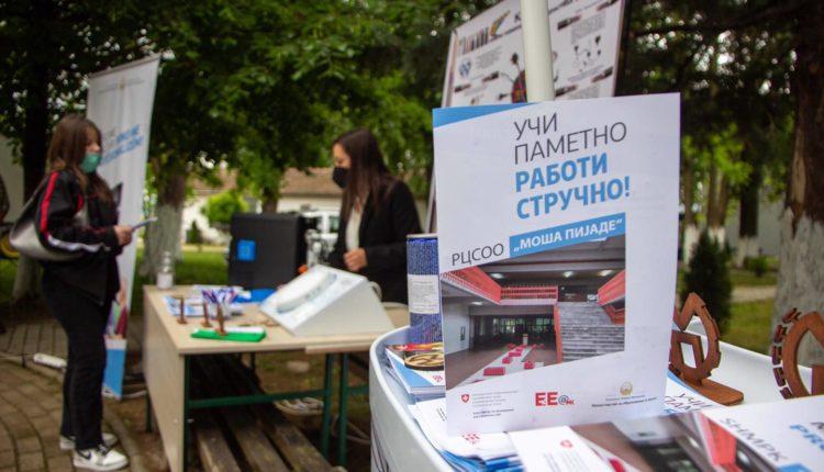 """Carovska në Ohër në promovimin e fushatës """"Mëso me mençuri, puno me profesionalizëm"""" për arsim të mesëm profesional"""