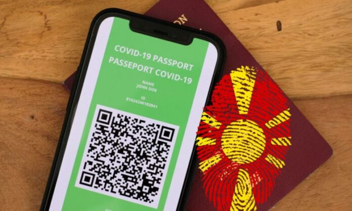 """Ja si duket pasaporta """"COVID-19"""" për qytetarët e Maqedonisë së Veriut (DOKUMENT)"""