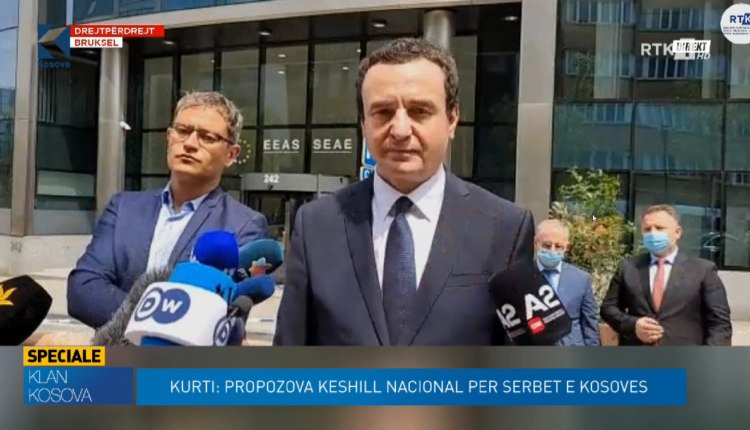 Kurti: Në takimin me Vuçiqin u ruajt distanca fizike, s'pati befasi