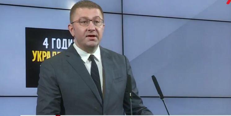 Mickoski: Çdo ditë kërkojmë dorëheqjen e Qeverisë dhe krijimin e kushteve për zgjedhje të parakohshme parlamentare