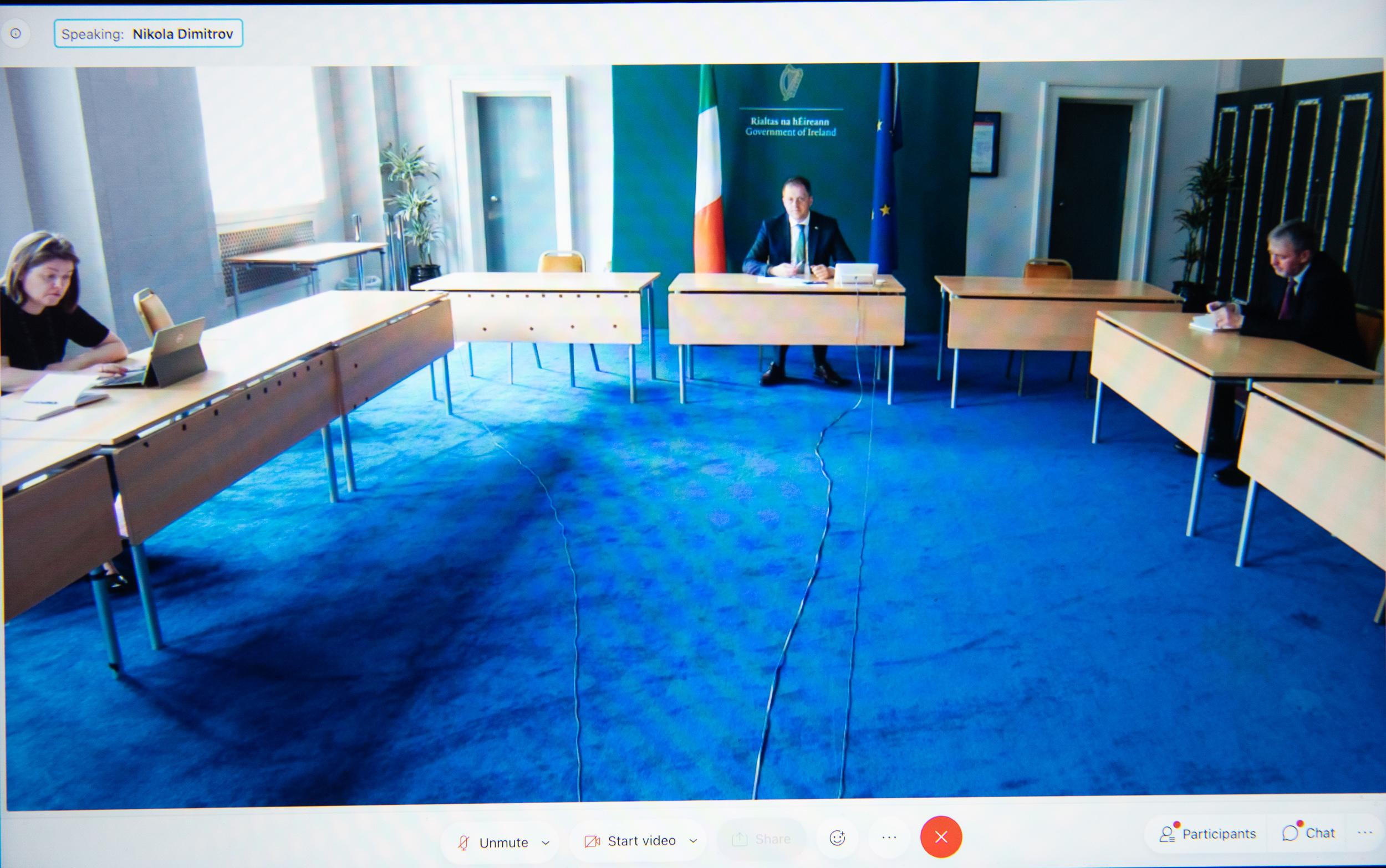 Zëvendëskryeministri Dimitrov në video takim me kolegun irlandez Bërn